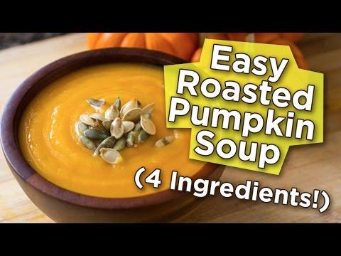 Easy Roasted Pumpkin Soup Recipe (4 Ingredients!) | Nutritarian | Vegan