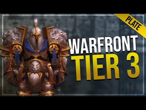 Warfront Tier 3 Plate Armor & Weapons   All Alliance Races   Battle for Azeroth!