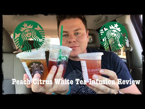 STARBUCKS TEAVANA SHAKEN PEACH CITRUS WHITE TEA LEMONADE INFUSION DRINK REVIEW 2/3