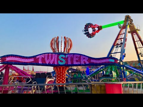 Scarrott's Easter Fun Fair Sixfields Vlog 14th April 2018