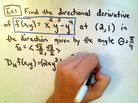 Finding the Directional Derivative