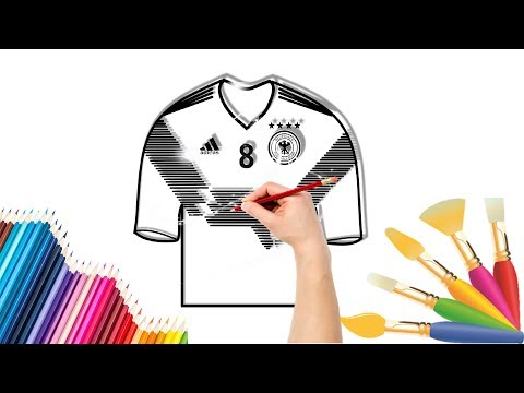 How to draw the Germany National Soccer Team Jerseys very easy | step by step | world cup 2018