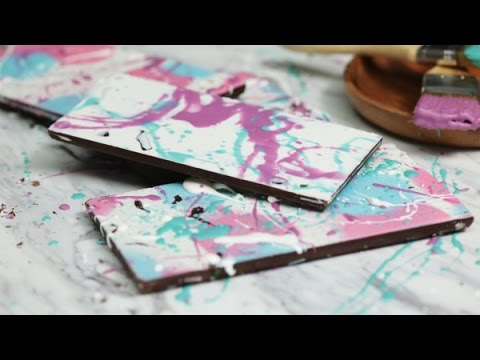 How to make painted chocolate bars, hand painted chocolate truffles, gourmet chocolate| home cooking