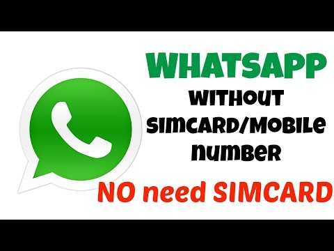 How to Register with whatsapp without a Simcard/Mobile Number | Android/iPhone (2017)