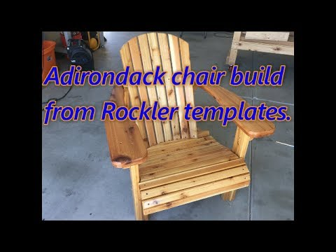 Adirondack chair build