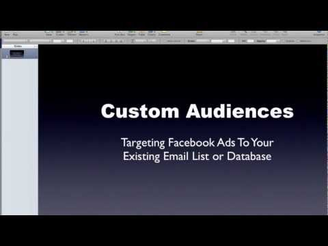 How To Target Your Email List With Facebook Ads With Custom Audiences