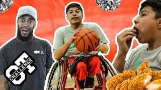 Wheelchair Hooper DROPS BUCKETS In First Ever Fan Overtime Challenge! BODIES The KYRIE CHALLENGE 👀