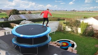 TRAMPOLINE ROOF JUMPING