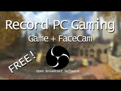 How To Record PC Gaming W/ FaceCam | No Editing Needed! | Open Broadcast Software