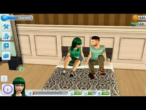 The Sims Mobile #4 -  Fast Level 10-15 - Married & Have A Baby Quest