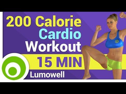 15 Minute Cardio Workout - 200 Calorie Workout