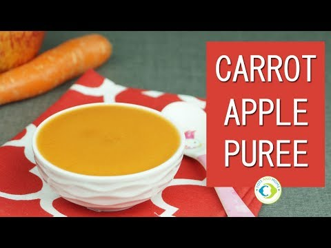 Carrot Apple Puree for Babies - Baby Food Recipe