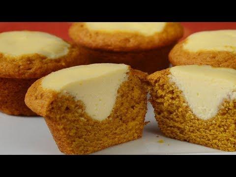 Pumpkin Cream Cheese Muffins Recipe Demonstration - Joyofbaking.com