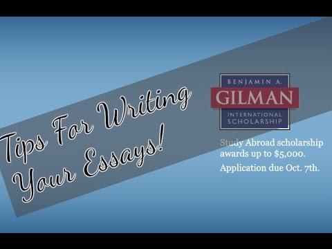 Gilman Scholarship Essay Tips