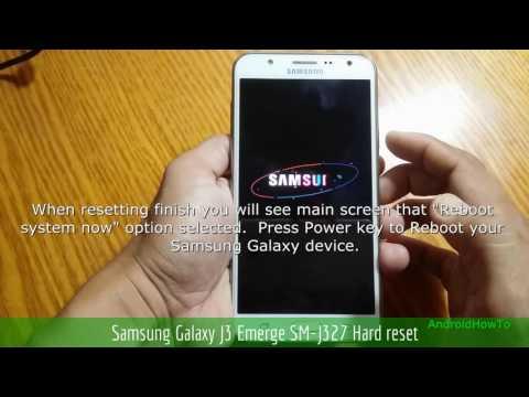 Samsung Galaxy J3 Emerge SM-J327 Hard reset