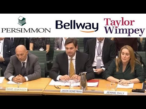 Taylor Wimpey, Persimmon and Bellway - Leasehold Scandal - BBC Parliament - 19/11/2018