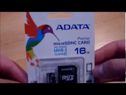 Unboxing Karta Adata Micro SD SDHC 16GB Class10 UHS-I + adapter SD
