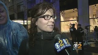 Crowds Brave Soggy Weather, Security For Rockefeller Tree Lighting