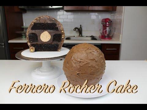 How To Make A Ferrero Rocher Truffle Cake | CHELSWEETS