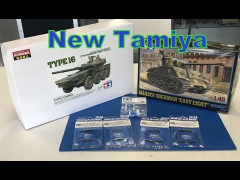 New Tamiya models and product Type 16 and 1/48 M4A3E8 Sherman