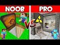 Minecraft NOOB Vs PRO SECRET BUNKER In Minecraft AVM SHORTS Animation