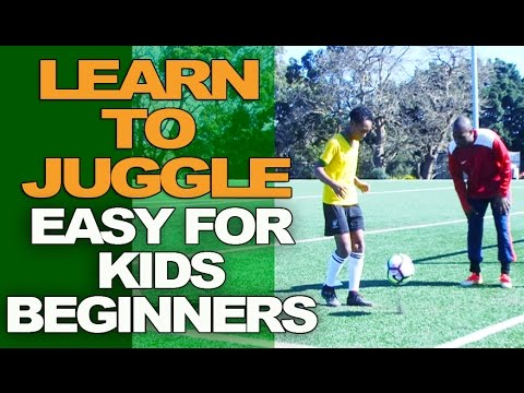 How To Juggle A Soccer Ball For Kids Beginners - Super Easy