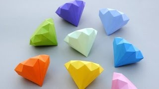 How to Make a Paper Diamond - Simple Way
