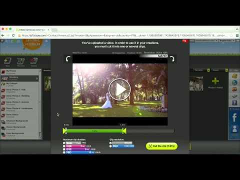 How to cut a video into a clip - Kizoa Tutorial