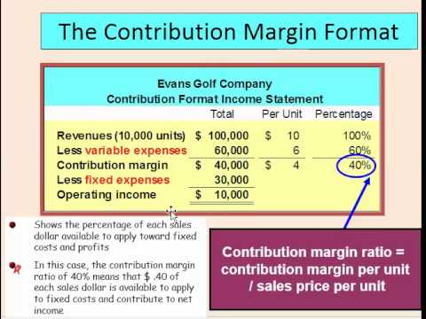 Contribution Margin Income Statement