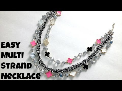 Make an Easy Multi-Strand Necklace #CraftsUnder10HOA