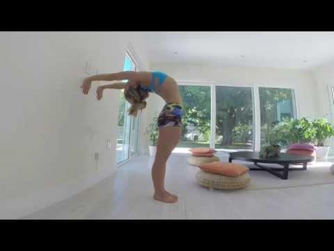 Yoga Wall Backbending Demo with Kino