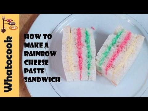How To Make A Trinidad 🇹🇹 Rainbow Cheese Paste Sandwich