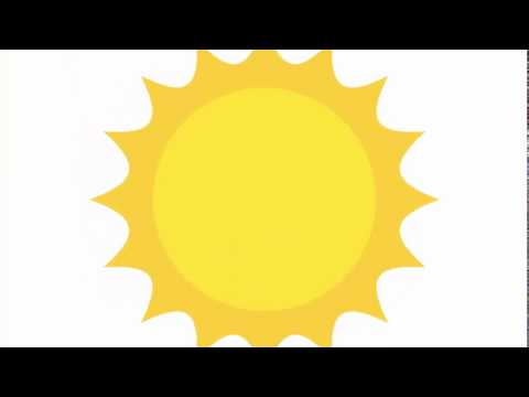 Sun shape very qiuck - Adobe Illustrator cs6 tutorial.