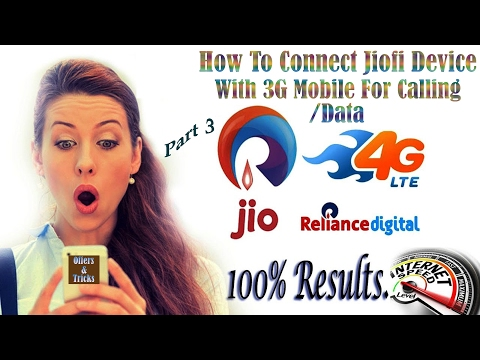 How To Connect Jiofi Device With 3g Mobile For Calling/Data - In Hindi Urdu