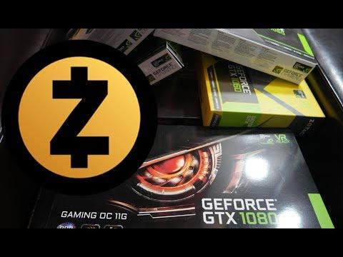 Zcash mining test: GTX 10 Series Cards (1050, 1060, 1080 Ti)