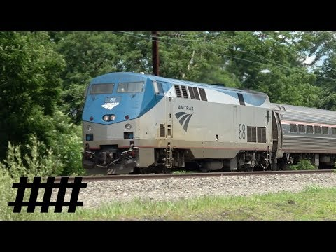 Amtrak Pennsylvanian 43 P42DC 88 at Leaman Place Junction in Paraside, PA