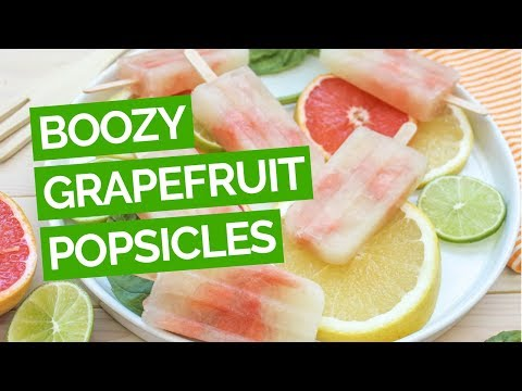 Grapefruit, Basil & Vodka Popsicle Recipe