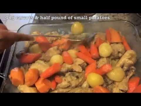 Chicken and potatoes with carrots
