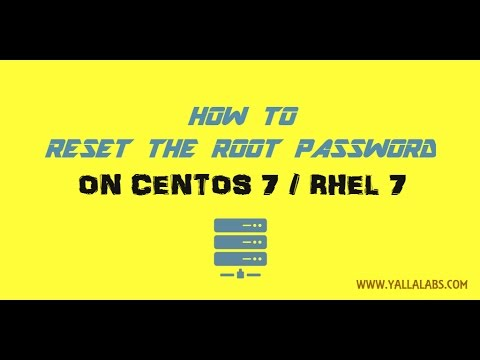How to reset root password on CentOS 7/ RHEL 7