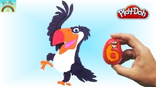 The Best Play doh Creation  (Happy bird Toucan) Surprise eggs opening.