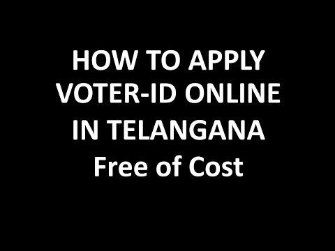 How to apply Voter ID online in Telangana