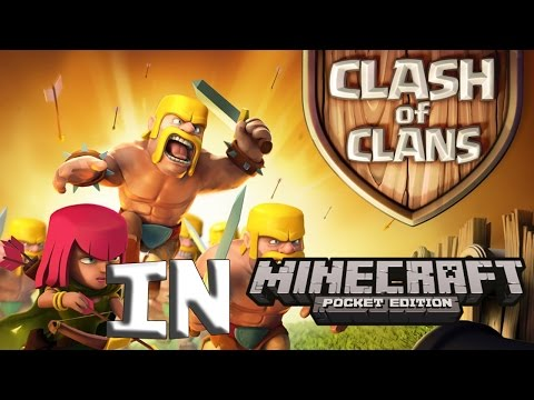 ClashOfClans in MCPE! - EPIC Minecraft Pocket Edition Map!