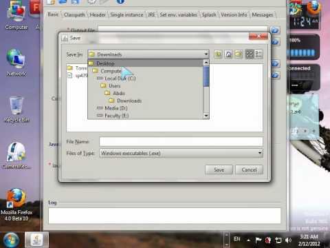 java (.jar) file to (.exe) file