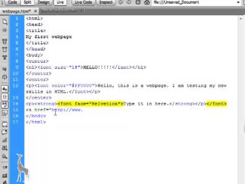 HTML Tutorials - Episode 3: Font Face and Links
