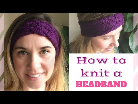 How to knit a headband/cable headband | TeoMakes