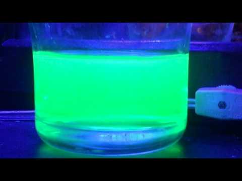How to make glowing water!  With a blue/black Light...