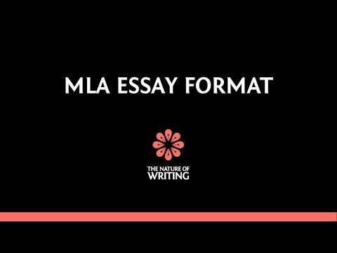 MLA Essay Format (8th Edition)