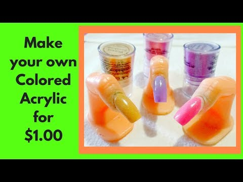 How to make colored acrylic powder for $1.00