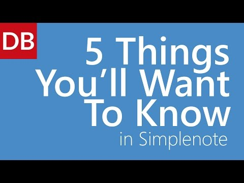 Simplenote Note Taking App |  Top 5 Things You'll Want to Know