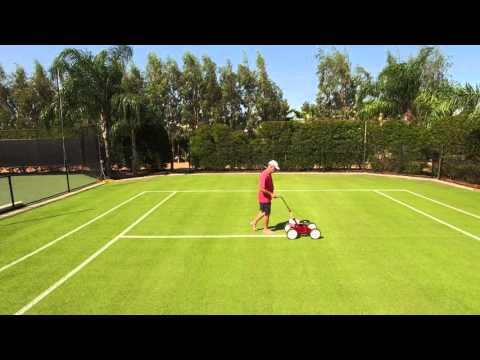 Painting Lines on a Grass Court